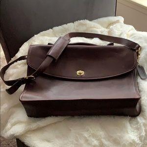 Coach mocha brown briefcase/computer bag